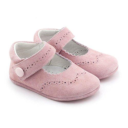 Boni Minnie - Chaussons bébé daim souple Rose