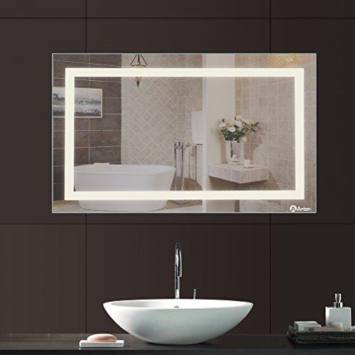 Spiegelleuchte Warmweiß - Spiegel mit LED-Beleuchtung 100 x 60 cm