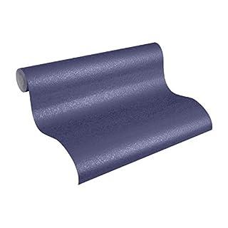 Architects Paper Vliestapete AP 2000 Design by F.A. Porsche Tapete Uni Unitapete 10,05 m x 0,53 m blau metallic Made in Germany 960695 96069-5
