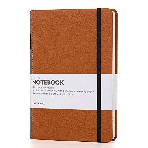 Kariertes Notizbuch/Squared Notebook - Lemome Hardcover Classic GitterNotizbuch mit Stifthalter - Thick Premium Papier + Seiteneinteiler Geschenke 8,4 x 5,7 Zoll