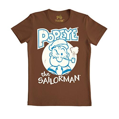Logoshirt T-Shirt Popeye The Sailorman Cocoa braun ()