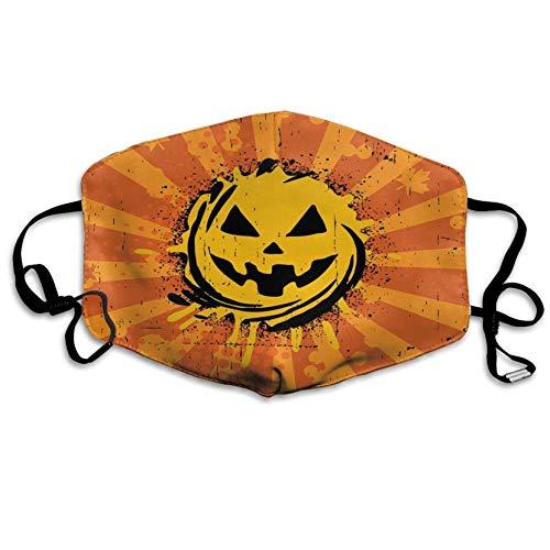 Louis Berry Staubschutzmaske, wiederverwendbar, für Damen und Herren, Vintage-Halloween, Kürbis-Maske