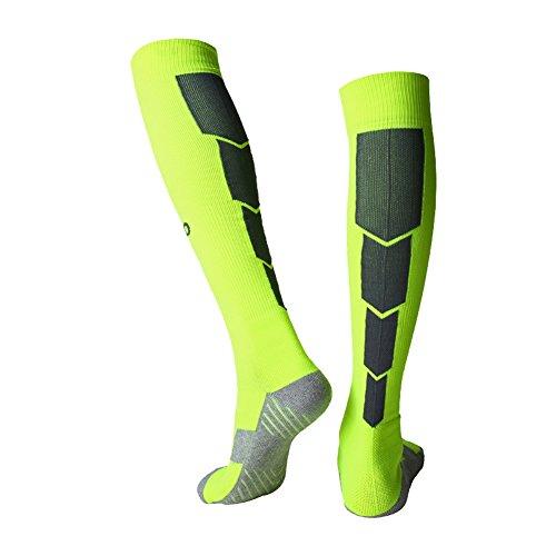 Spove Kompression Fußball Socken Über dem Knie Hoch Sport Socken Rugby Eishockey Volleyball Ausbildung Laufen Socken Unisex