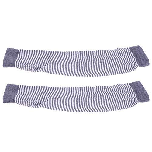 Vosarea 1 Paar Armstulpen Sun Block Ärmel Strickarmhülle Damenhandschuh für Outdoor-Aktivitäten Hautschutz (Hellgrau) -