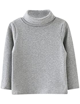HLHN Kinder Baby Mädchen Langarm Kleinkind Stehkragen Tops T-Shirt Warme Kleidung