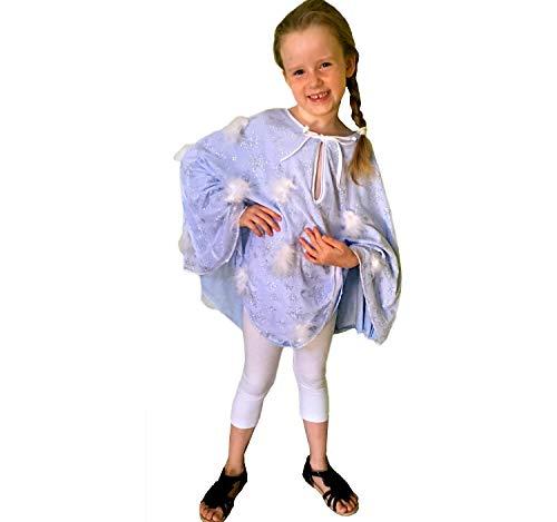 Eis Kind Kostüm Prinzessin - Krause & Sohn Kinder Kostüm EIS Prinzessin Schneeflöckchen Tunika blau weiß Fasching (116)