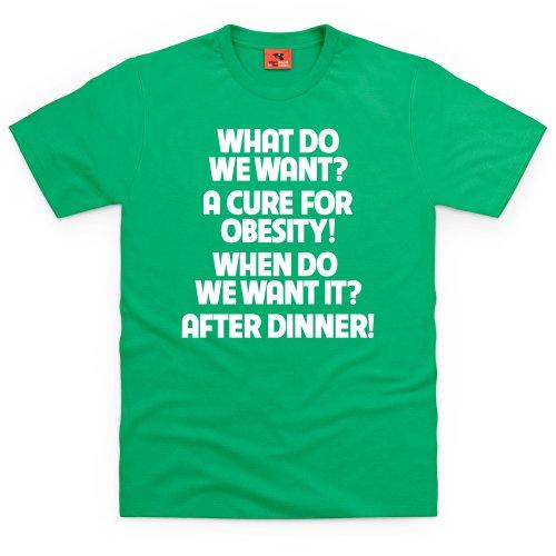 Obesity T-Shirt, Herren Keltisch-Grn