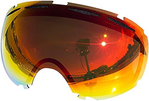 Lentes de repuesto para Oakley Canopy–Gafas antiventisca para nieve, Red Mirror
