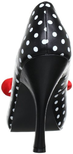 Pin Up Couture CUTIEPIE-06 Damen Pumps, Schwarz (Blk-wht pu (polka dots print)), EU 37 (UK 4) (US 7) -