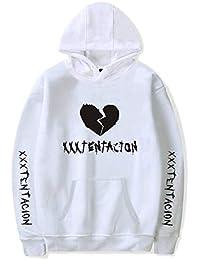 Sudaderas con Capucha Hombre Xxxtentacion R.I.P Pullover Sudaderas De Tendencia Hoodie Sweatshirt de Mangas Largas Bolsillos