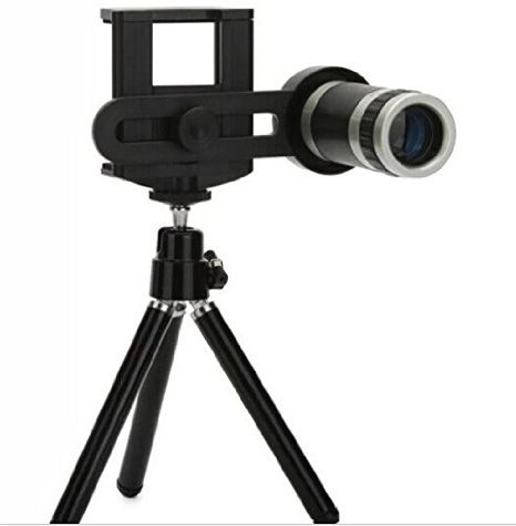 8X Zoom Universal Mobile Phone Telescope Camera Lens & Tripod+Adjustable Holder  available at amazon for Rs.515