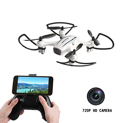 Drone with Digital camera,CELLSTAR Wifi FPV Drone 720P HD Digital camera RC Quadcopter Drone With Altitude Maintain and 3D Flips Android APP Distant Management Helicopter for Fanatics