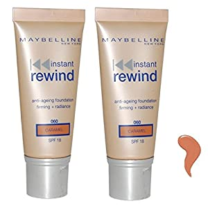 Instant Rewind by Maybelline Anti Ageing Foundation 30ml Caramel/060 SPF18 (Pack of 2)