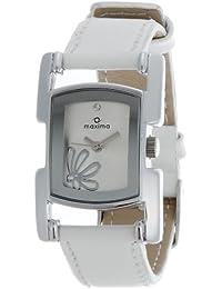 Maxima Attivo Analog Silver Dial Women's Watch - 24400LMLI