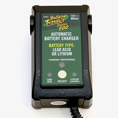 Battery Tender  022-0199-DL-EU  Caricabatterie Mantenitore Di Batterie di litio, AGM, GEL, Acido, 12v, 800mA Junior