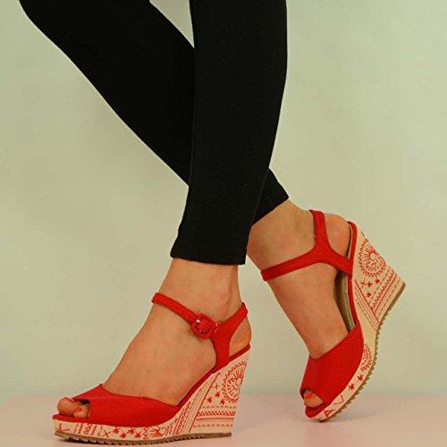Cucu Fashion - Strap alla caviglia donna Rosso (rosso)