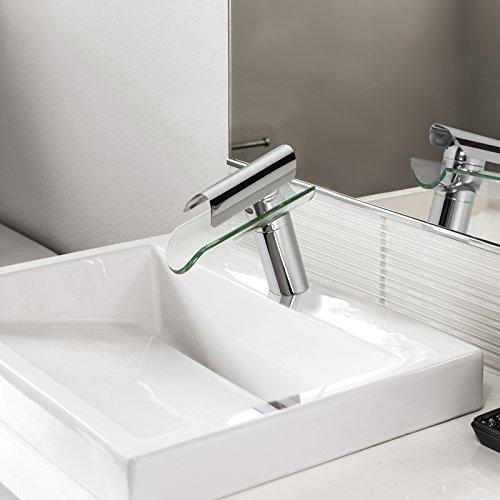 Aquamarin Einhandmischer Wasserhahn (Modelwahl) Waschbecken Waschtischarmatur mit gläsernem Auslauf