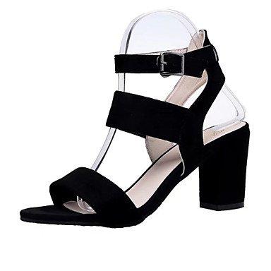 RUGAI-UE Sommer Damen Sandalen Gummi Schuhe Casual Comfort Fersen, Mandel, uns 4-4,5/EU 34/ UK 2-2,5/CN33 Black
