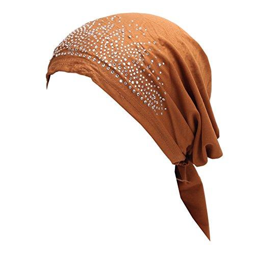 Bluelans® Women's Schal Pre Tied Chemo Hut Mütze Turban Kopftuch für Haarverlust, Krebs, Chemotherapie (Kostüm Medizinische)