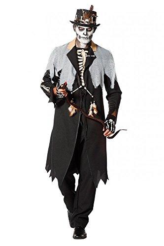 g Herren Kostüm Priester Medizinmann Regenmacher Schamane Witch Doctor, Größe:52 ()