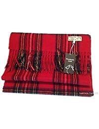 Royal Stewart 100% Pure Lambs Wool Red Scarf Shepherds Land By Lona Scott