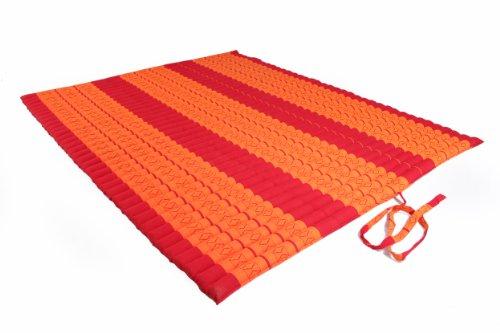 Handelsturm Thaikissen XXL Rollmatte ca. 205 x 150, Thai Kapok Matte, Rollmatte für Massage, als Liegewiese oder zum Spielen, Kissen (Rot-orange) (Rot-spiel-matte)
