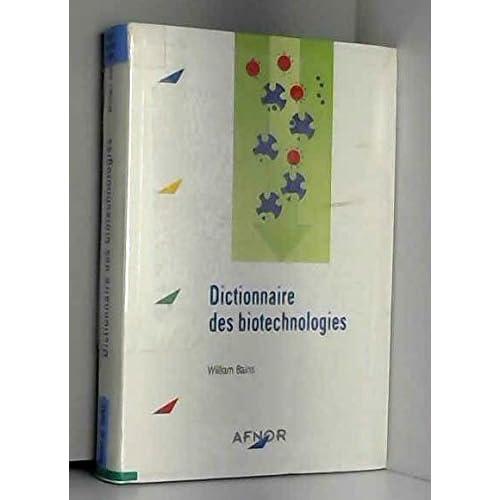 Dictionnaire des biotechnologies
