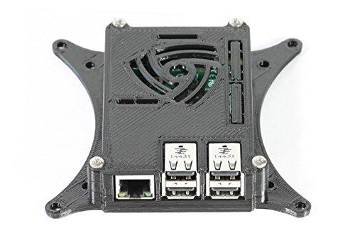 Raspberry Vesa Mount Pi (Raspberry Pi 2B+ Gehäuse mit 75mm und 100mm VESA-Monitor-Halterung, Schwarz 0110-m-p)