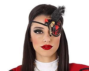 Atosa-62917 Atosa-62917 - Accesorio para disfraz de pirata y parche de ojo, para adulto, unisex, color rojo, talla única