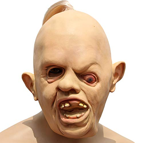 HAORONG Faultier Latex Maske Deluxe Goonies Halloween Kostüm 1980er 80er Jahre