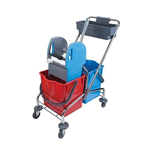 aviva-pro-57-double-bucket-cart-chrome-2-x-18-liters-bucket-and-storage-new-trolley-cleaning-car