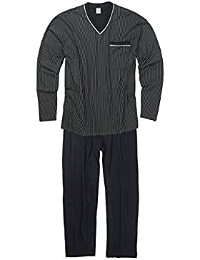 Adamo Fashion XXL Pijama en azul oscuro
