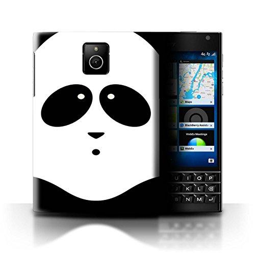 Stuff4® Hülle/Case für BlackBerry Passport/Panda Muster/Animierte Tiergesichter Kollektion - Panda Cover Passport