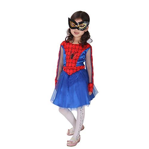 Für Girl Spider Erwachsene Kostüm - CVFDGETS Spider Man Kleider Mädchen Spider Girl Halloween Spiderman Kostüm Für Kinder Cosplay Kostüm Für Jugendliche,Girls-M