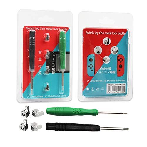 Preisvergleich Produktbild Kongqiabona Professionelle Reparatur Werkzeug Teile Legierung Schnalle Lock Kit für NS Nintendo Schalter NX Joy-Con Controller mit 2 Stück Schraubendreher