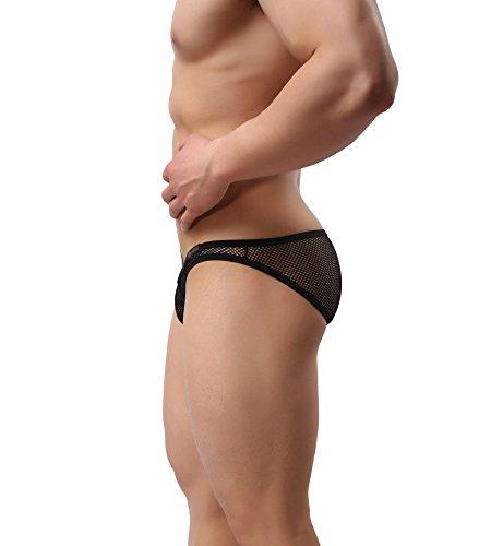 Surenow Männer Herren Sexy Unterhose Unterwäsche Slip Tanga Schwarz