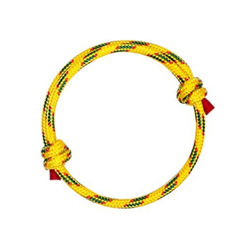 Wind Passion Gelbe Höchste Qualität Kordel Segeltau Armband für Männer