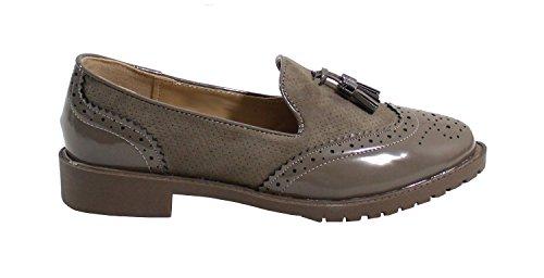 By Shoes , Damen Schnürhalbschuhe Taupe