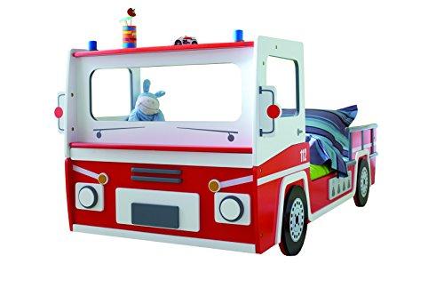 demeyere 3224 Feuerwehrbett SOS 112, MDF, 90 x 190-200 cm, rot/weiß - 4