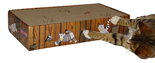 ENVIRONMENTALLY FRIENDLY CAT SCRATCHER & ACTIVITY TOY including CATNIP and TOYS 8