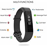 Boltt Beat Rubber Fitness Activity Tracker Heart Rate Monitor Band with 3 Months Health Coaching, Free Size (Black)