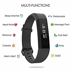 Monitor your activities all day long with this slim and stylish device. This smart band can automatically record your daily activities such as steps, calories burned, and active minutes. At night, it records your sleep data, helps you improve your sl...
