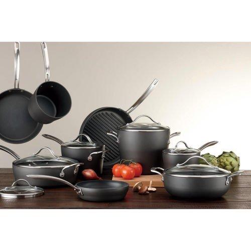Kirkland Signature 15 Piece Hard Anodized Cookware Set
