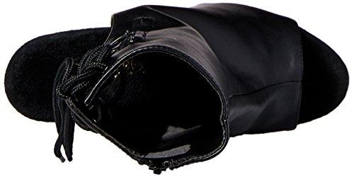 Pleaser Adore, Bottes Classiques femme, Noir, 38 EU Faux cuir noir/chrome argenté
