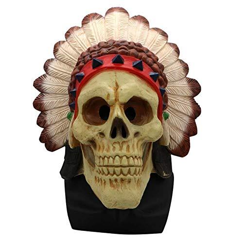Scary Clown Kostüm Super - Xiao-masken Maske Maskerade Prom Maske Clown Maske Scary Halloween Kostüm Horror Maske Bloody Latex Maske Super Terrorist Maske Party Terror Cosplay Kostüm Maske for Erwachsene (Einheitsgröße)