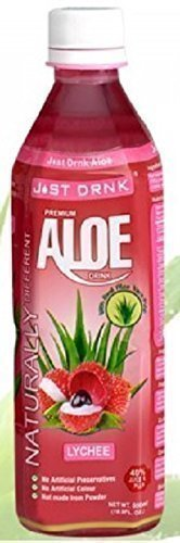 Just Drink Aloe Lychee 500ml (Pack of 12)