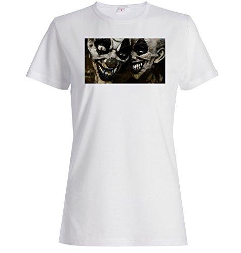 Scary halloween retro clowns Dammen baumwolle t-shirt Medium