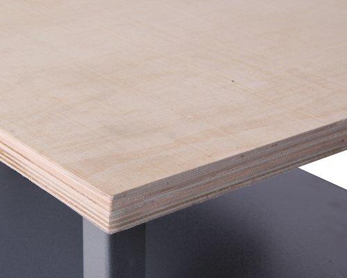 Ondis24 Werkbank abschließbar Werktisch Montagewerkbank Werkstatttisch rot mit Türen - 6