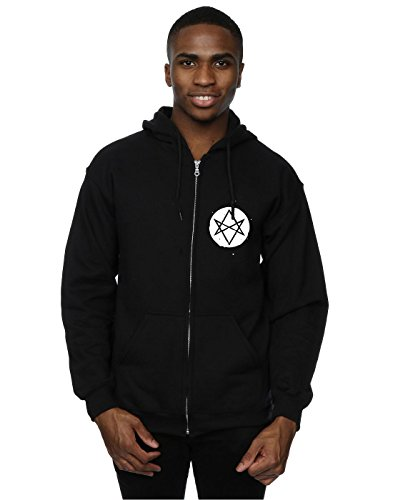 Bring Me The Horizon Uomo Distorted Logo Zip Up Felpa con cappuccio Medium Nero