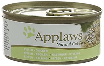 Applaws Kitten Food Tin Chicken, 70g, Pack of 24 from Applaws